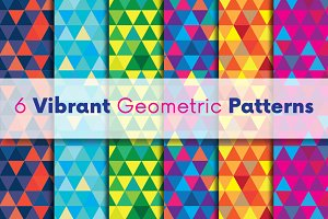 6 Vibrant Geometric Vector Patterns