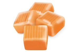 4 Square candy caramels