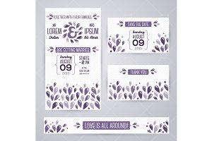 Wedding Cards Violet