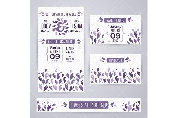 Wedding Cards Violet