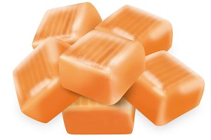 6 Square candy caramels