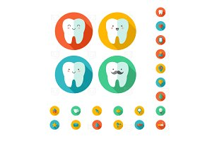 Teeth Web icons