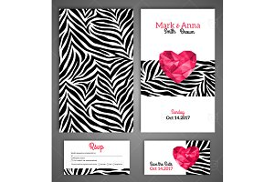 Wedding Cards Zebra