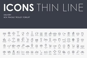 Delivery thinline icons