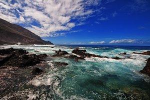 Amazing view on wavy sea