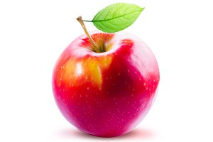 One Isolated Red Apple