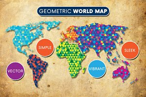 Geometric World Map