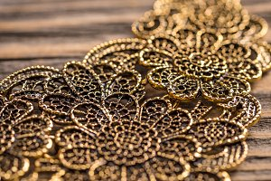 Goldplated feminine necklace
