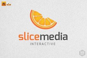 Slice Media Logo Template