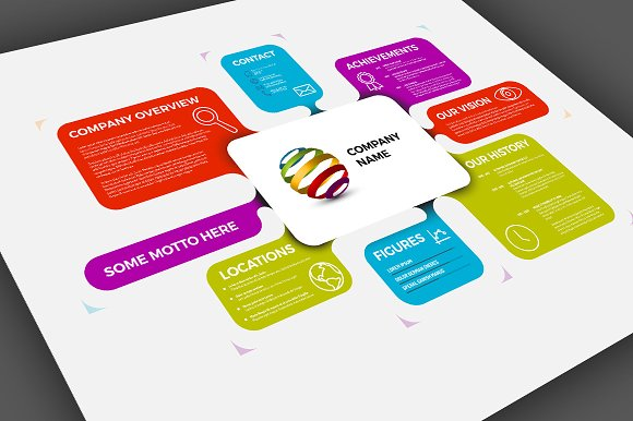 Company profile template presentation templates creative market wajeb Images