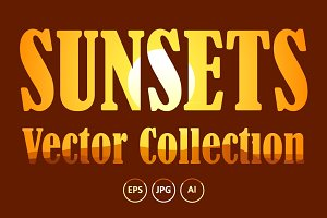 Vector Sunsets Collection #1