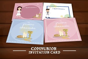 Set of communion invitations