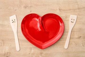 Wooden kitchen utensils Heart