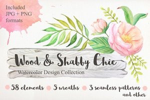 Shabby Chic Watercolor Pack