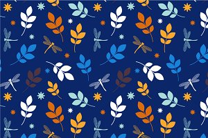 "Seamless pattern ""Blue summer"""