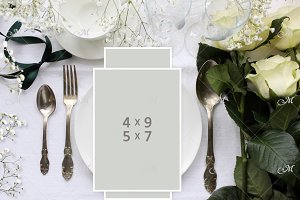 PSD Wedding table Mockup