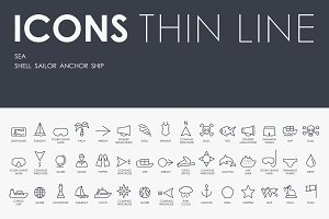 Sea thinline icons