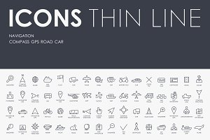 Navigation thinline icons