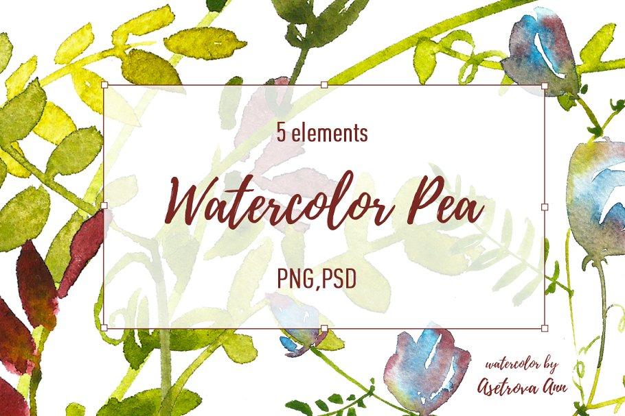Watercolor Pea Set