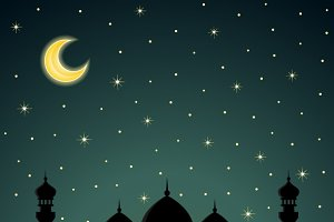 Abstract backgrounds with mosque