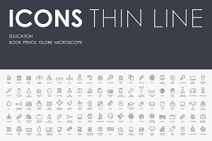 Education Thinline icons