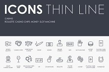 Casino thinline icons