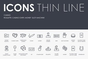 Casino thinline icons