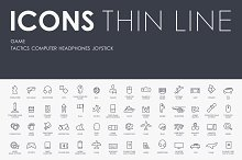 Game thinline icons