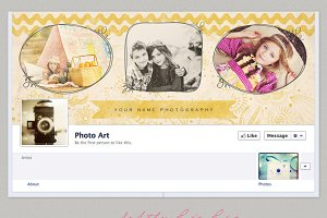 Vintage Gold Facebook Timeline Cover