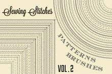 Sewing Stitches Patterns Brushes v2