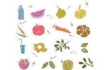 Healthy Food Vector Set