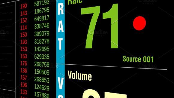 Big Data or financial stock market ticker digital display analys