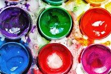 Art Supplies. Paintbox