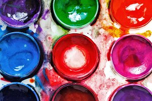 Art Supplies. Paintbox