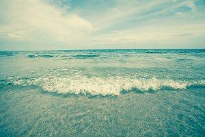 Retro tropical sea