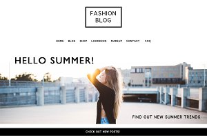Fashion Blog/Shop Template PSD