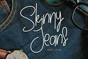 Skinny Jeans fashion logo font