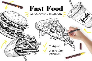 Fast Food Sketch Collection