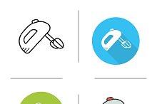 Mixer icons. Vector
