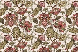 4 Vintage Floral Patterns