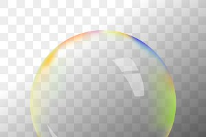Transparent vector soap bubble