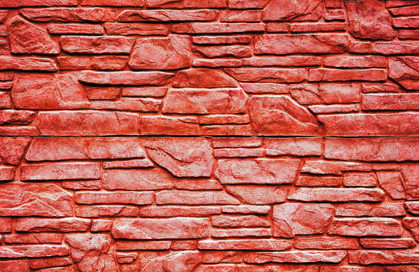 Red Stone Texture : Red stone brick wall texture abstract photos creative