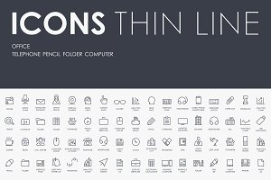 Office thinline icons