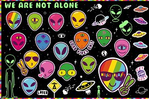 Alien Emoji Sticker Clip Art