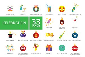 Celebration Icons Set