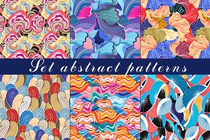 Set of Abstract colorful patterns