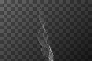 Realistic transparent white smoke