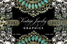 Vintage Jewelry Rhinestone Graphics