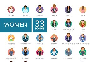 Women Icons Set