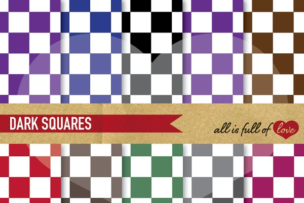 Checkered Background Paper Set